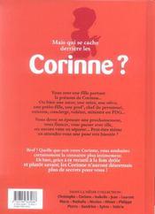 L'encyclopédie des prénoms en BD t.11 ; Corinne - 4ème de couverture - Format classique