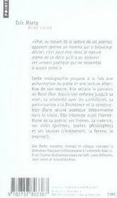 René char, monographie - 4ème de couverture - Format classique