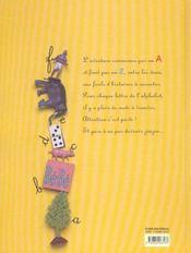 L'alphabet zinzin - 4ème de couverture - Format classique