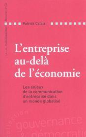 L Entreprise Au-Dela De L Economie - Intérieur - Format classique