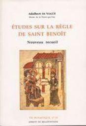 Études sur la règle de saint benoît - Couverture - Format classique
