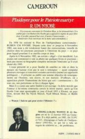 Cameroun ; plaidoyer pour le patriote martyr Ruben Um Noybè - 4ème de couverture - Format classique