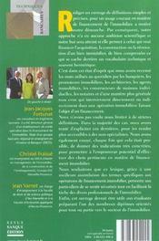 Lexique pratique du financement de l'immobilier - 4ème de couverture - Format classique