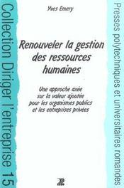 Renouveler La Gestion Des Ressources Humaines - Intérieur - Format classique