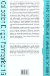 Renouveler la gestion des ressources humaines - 4ème de couverture - Format classique