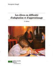Les élèves en difficulté d'adaptation et d'apprentissage (3 édition) - Intérieur - Format classique