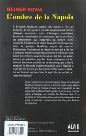 L'Ombre De La Napola - 4ème de couverture - Format classique
