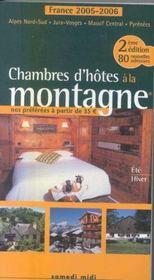 Chambres d'hôtes à la montagne (édition 2005/2006) (2e édition) - Intérieur - Format classique
