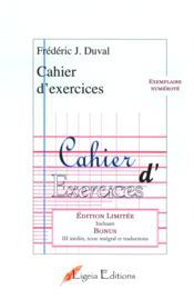 Cahier d'exercices - Couverture - Format classique
