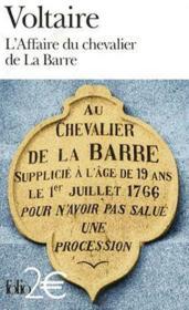L'affaire du Chevalier de La Barre - Couverture - Format classique