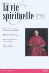 Vie Spirituelle Vs792 - Couverture - Format classique