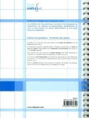 Explorer les grandeurs ; se donner des repères ; guide méthodologique avec cd-rom et documents reproductibles ; 2,5/12 ans - 4ème de couverture - Format classique
