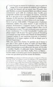 Le poisson et le bananier ; une histoire fabuleuse de la traduction - 4ème de couverture - Format classique