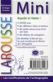 Mini plus dictionnaire Larousse ; français (édition 2012) - 4ème de couverture - Format classique
