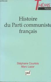 Histoire du parti communiste franc. - Couverture - Format classique