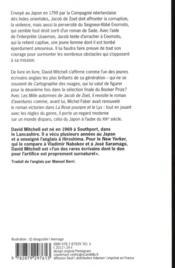 Les mille automnes de Jacob de Zoet - 4ème de couverture - Format classique