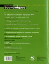 Problemes Economiques N.3031 ; Bilan De L'Economie Mondiale - 4ème de couverture - Format classique