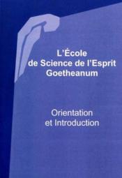 Ecole De Science De L'Esprit - Couverture - Format classique