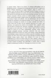 Kant et les sciences ; un dialogue philosophique avec la pluralité des savoirs - 4ème de couverture - Format classique