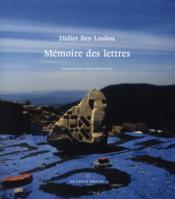 Mémoire des lettres - Couverture - Format classique