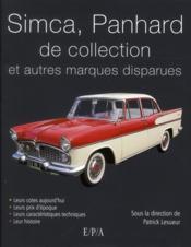 Voitures Simca, Panhard et autres marques disparues - Couverture - Format classique