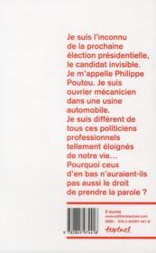 Un ouvrier c'est là pour fermer sa gueule ! interdit d'élection présidentielle ? - 4ème de couverture - Format classique