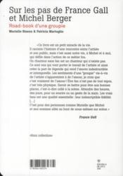 Sur les pas de France Gall et Michel Berger - 4ème de couverture - Format classique