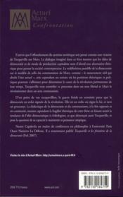 Tocqueville et Marx - 4ème de couverture - Format classique