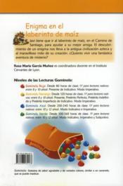 Enigma en el laberinto de maíz - 4ème de couverture - Format classique