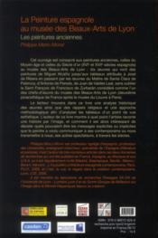 Peinture Espagnole Au Musee Des Beaux Arts Delyon - 4ème de couverture - Format classique