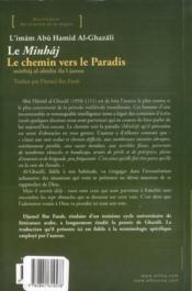Le minhâj ; le chemin vers le paradis (2e édition) - 4ème de couverture - Format classique
