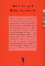 Haines postmodernes - 4ème de couverture - Format classique