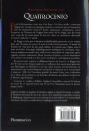 Quattrocento - 4ème de couverture - Format classique