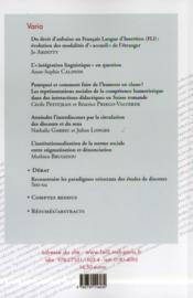 Langage Et Societe 144 - 4ème de couverture - Format classique