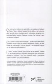 Tàpies, Saura, Millares ; l'art informel en Espagne - 4ème de couverture - Format classique