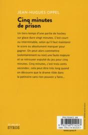Cinq minutes de prison - 4ème de couverture - Format classique