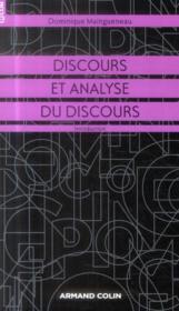 Discours et analyse du discours ; introduction - Couverture - Format classique