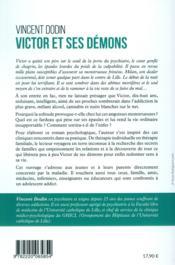 Victor et ses démons ; cannabis, alcool et cyberaddictions - 4ème de couverture - Format classique