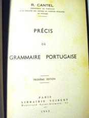Précis de Grammaire portugaise. 3e édition. - Couverture - Format classique