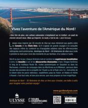 Amérique du Nord ; 50 itinéraires de rêve - 4ème de couverture - Format classique