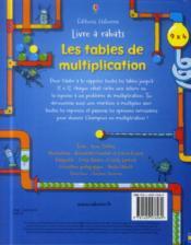 Les tables de multiplication - 4ème de couverture - Format classique