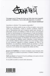 AnarChrist ; une histoire de l'anarchisme chrétien - 4ème de couverture - Format classique