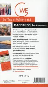 Un grand week-end ; Marrakech - 4ème de couverture - Format classique
