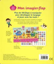 Mon imagier-flap pour apprendre - 4ème de couverture - Format classique
