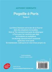 Les frères Diamant t.4 ; pagaille à Paris - 4ème de couverture - Format classique