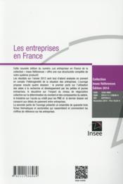 Les entreprises en France - 4ème de couverture - Format classique