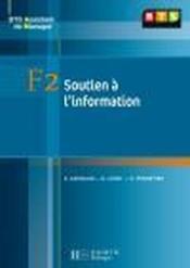 BTS assistant manager ; F2 soutien à l'information ; livre de l'élève - Couverture - Format classique
