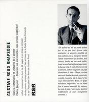 Rapsodie - 4ème de couverture - Format classique