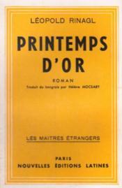 Printemps d'or - Couverture - Format classique