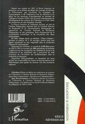 Les sciences de l'éducation à travers les livres - 4ème de couverture - Format classique